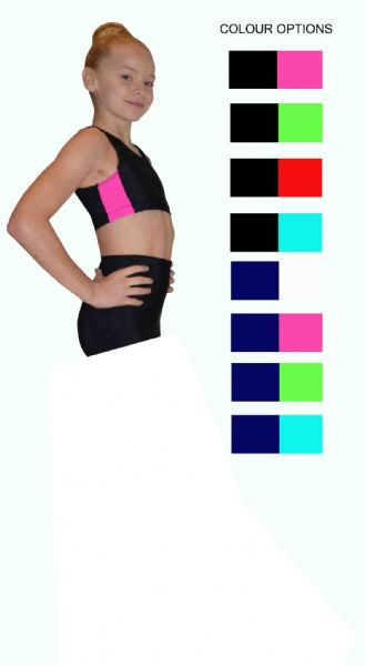 EARL425 Racer Style Crop Top with stripe from £17.95